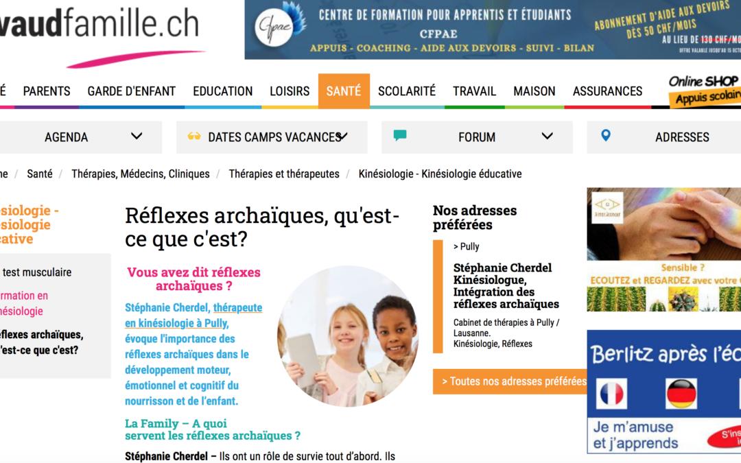 Interview sur les réflexes archaïques sur Vaudfamille